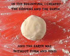 Artist uses dough and sprinkles to explain the creation of the world and everything in it.