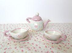 OOAK Nursery Decor Teapot set Girls Bedroom Decor by HappyVillage, €48.00