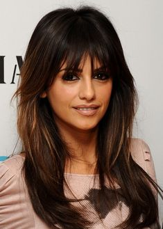 Art monica cruz bangs hairdos