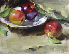 "Daily Paintworks - ""Bowl of Apples"" by Pamela Blaies"
