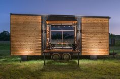 This is the Alpha Tiny House. It's built by New Frontier Tiny Homes in Nashville, Tennessee. The Alpha Tiny Home features a one-of-a-kind layout – one of my new absolute favorites. Check it o…