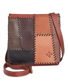 Patricia Nash Patchwork Granada Crossbody - Patchwork Chocolate