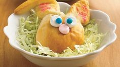 Bunny puffs - The kids will hop right over when you serve these charming rabbits, with a chocolate treat wrapped inside crescent roll dough.