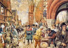 Leven in stad in de Middeleeuwen