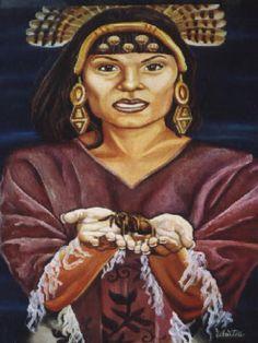 Coyolxauhqui Diosa de la Luna azteca (México). Hija de Cuatlicue, diosa de la Tierra, y hermana de Huitzilopochtli, dios del Sol. Quiso matar a su madre pues pensó que ésta había deshonrado a su familia; sin embargo, su hermano, Huitzilopochtli, defendió a su progenitora. El combate entre ambas deidades.