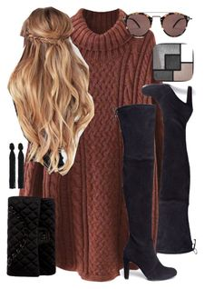"""Untitled #579"" by mcc782002 ❤ liked on Polyvore featuring WithChic, Stuart Weitzman, Chanel, Oscar de la Renta, Yves Saint Laurent and Oliver Peoples"