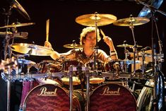 Todd Sucherman, Diy Drums, Pearl Drums, Peter Criss, How To Play Drums, Tommy Lee, Drum Kits, Photography Editing, Rock Bands