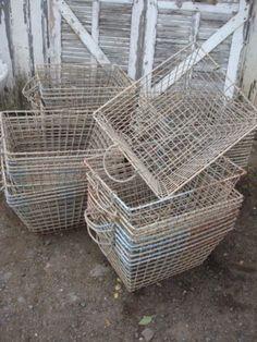 white wire baskets