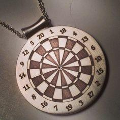 Diamond Bullseye Dartboard Medallion! Nataly Aponte Jewelry