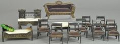 LARGE LOT OF BOULLE MINIATURE FURNITURE : Lot 1703