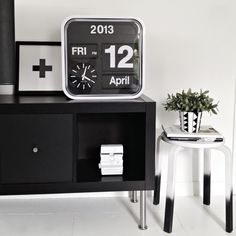 Via Karen | Karlsson Flip Clock | Black and White