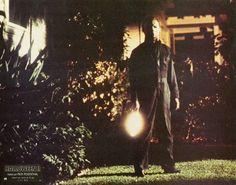 Halloween 2 1981. Michael brandishing his signature killing weapon- a shiny, sharp, kitchen knife.