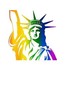 Gay Rainbow Flag Statue Of Liberty USA Home Decal Vinyl Sticker 12'' X 12'' * Read more at the image link. (This is an affiliate link) #101homedecor