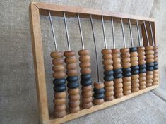Large soviet wooden abacus. USSR vintage calculator. Russia collectible.  Old abacus. Home decor. Soviet vintage. USSR 1970s.