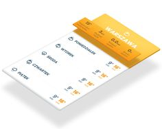 Simple weather app by Dawid Dapszus, via Behance