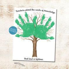 Handprint Teacher Gifts Teacher appreciation gift Handprint   Etsy
