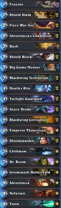 Hearthstone deck guide: Dragon Warrior - October 2015 - Hearthstone ~ MetaBomb