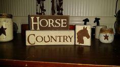 horse country primitive wood kid room sign handmade children barn decor #RusticPrimitive
