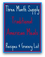 Meals Ready to Eat Traditiona American Recipes & Grocery List. Like the idea but would do using fresh foods. <3 Angela