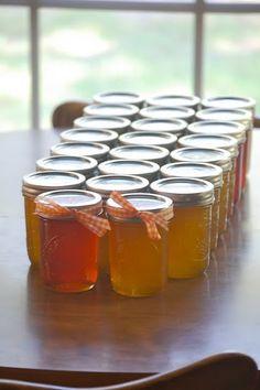 Peach jam and jelly