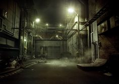 Telfastin, The Alley, created by Flip Frisk using Maya and VRay.