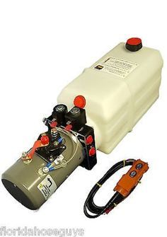 KTI Hydraulic Power Unit Double Acting 12v 8qt tank for dump trailers -- Awesome products selected by Anna Churchill