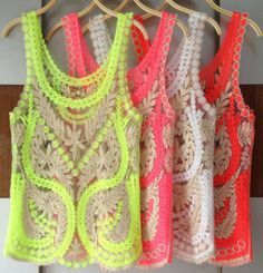 #neon #crochet tanks