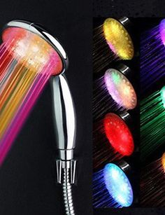 Colorful ABS LED Farbwechsel Handbrause