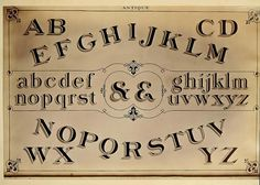 Free antique alphabet printable
