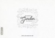 Hand Drawn Floral Decorative Frame Logo Design by Daily Logo Design, The Paris Studio