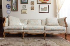 Items similar to Vintage Thomasville Couch Sofa French Provincial on Etsy French Sofa, Vintage Sofa, French Provincial, Beige Color, Sofas, Sweet Home, New Homes, Couch Sofa, Trending Outfits
