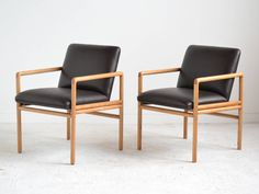 Pair of Ward Bennett Armchairs | From a unique collection of antique and modern armchairs at https://www.1stdibs.com/furniture/seating/armchairs/