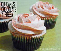 Cupcake Creativo: Cupcakes de Chocolate y Fresa + Sorpresa!!