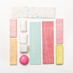 color palette   a palette based on shades of gum   via: design love fest