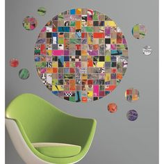 Create your own eclectic collage using these removable and reusable adhesive embellishments and enjoy a funky form of self-expression.