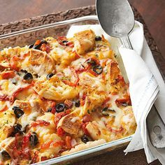 This zesty breakfast casserole is full of crowd-pleasing ingredients, including English muffins, chile peppers, olives, and ham. Plus, it can be made a day in advance and popped in the oven Christmas morning for a stress-free breakfast.