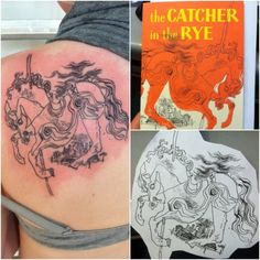 fuckyeahtattoos:    This is my first tattoo. The Catcher in the Rye has been my favorite book for years and it's always helped me through tough times. I'm also studying to be an English teacher, so a literary tattoo is only fitting.