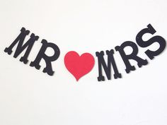 Mr and Mrs Letter BannerMr loves Mrs BannerWedding by ShopatLilys