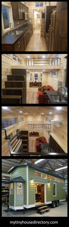 Meet CADO the Tiny Home Set on a custom built 24 ft trailer. 8 ft by 24 ft main floor and 2 large lo&; Meet CADO the Tiny Home Set on a custom built 24 ft trailer. 8 ft by 24 ft main floor […] Tiny Houses For Sale, Tiny House On Wheels, Little Houses, Pulte Homes, Tiny House Movement, Design Studio, House Design, Van Kitchen, Home Office