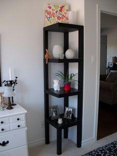 Wonderful corner shelf from LACK tables More ideas: https://en.ikea-club.org/ikea-lifehacks/frontpage.html