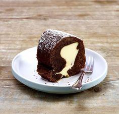 Dessert Rezept - Schokokuchen mit Cheesecakefüllung  - So Lecker und so einfach zu machen