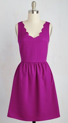 Vibrant purple dress