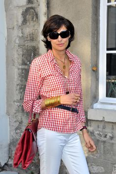 This is a great summer look -- especially like the layered necklaces and bracelets -- the rest is simple, simple.