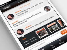Dribbble - iPhone App - Chat by Anke Mackenthun