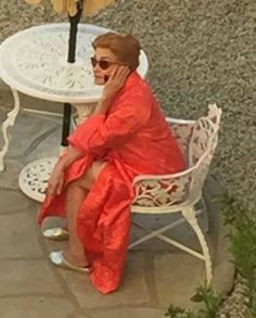 Jessica Lange as Joan Crawford on the set of Feud