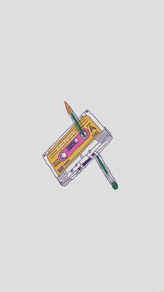 Rewind Cassette Tape With Pencil iPhone 6 Wallpaper Wallpaper Para Iphone 6, Rose Wallpaper, Tumblr Wallpaper, Aesthetic Iphone Wallpaper, Mobile Wallpaper, Aesthetic Wallpapers, Minimal Wallpaper, Wallpaper Iphone Vintage, Chill Wallpaper