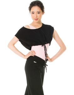 b2372561c60bf 23705 crop top from Mondor has an adjustable drawsting at the lower hem to  guarantee a
