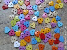 Купить Пуговицы мини, сердечко - комбинированный, Пуговки, пуговицы, пуговица, пуговицы для кукол, пуговицы для декора