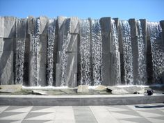 This is the waterfall we walked under at Yerba Buena Gardens in SF. The park area was lovely but the art museum was so weird! I had an amazing time with you anyway though. :)