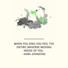 Love to sing - maybe not so nice for those listening though :(